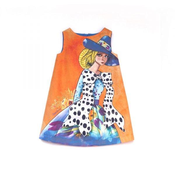 vestido de niña de chica con lazo doll 4 - amaia cubo design studio
